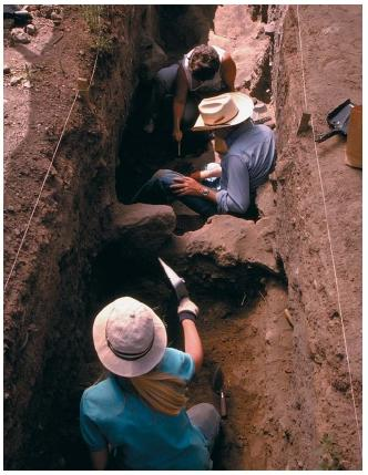 An archaeological excavation at Eldon Pueblo in Coconino National Forest in Arizona. (Reproduced by permission of The Stock Market.)