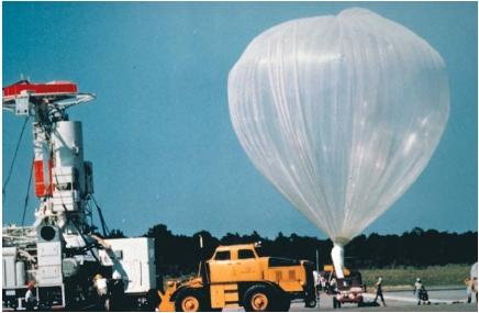 The balloon that carried the 3-ton, 36-inch Stratoscope II telescope into the atmosphere. (Reproduced by permission of National Aeronautics and Space Administration.)