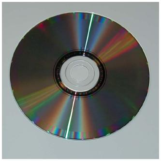 A compact disc. (Reproduced by permission of Kelly A. Quin.)