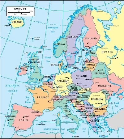 Europe. (Reproduced by permission of The Gale Group.)
