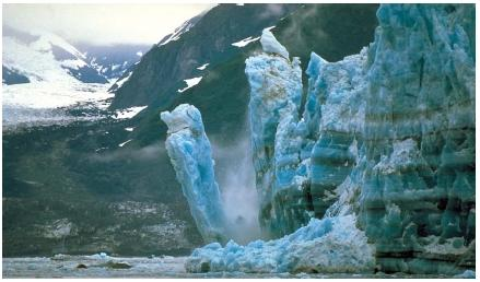 Hubbard Glacier calving in Alaska. (Reproduced by permission of Phototake.)