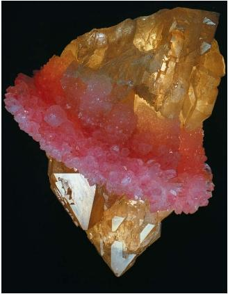 A sample of rose quartz wrapped around quartz from Sapucaia Pegmatite, Brazil. (Reproduced by permission of National Aeronautics and Space Administration.)