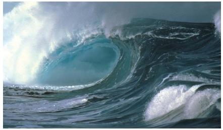 Waves erode the land upon which they land as well as the ocean floor. (Reproduced by permission of The Stock Market.)