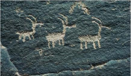 Petroglyphs by an ancient American culture. (Reproduced by permission of Field Mark Publications.)