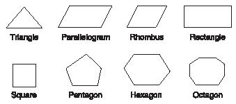 Different types of polygons. (Reproduced by permission of The Gale Group.)