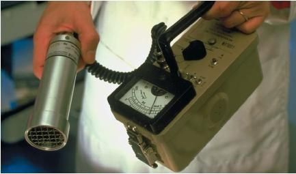 A handheld Geiger counter. (Reproduced by permission of Photo Researchers, Inc.)