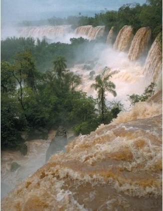 Iguazu Falls on Argentina's border with Paraguay and Brazil. (Reproduced by permission of Susan D. Rock.)