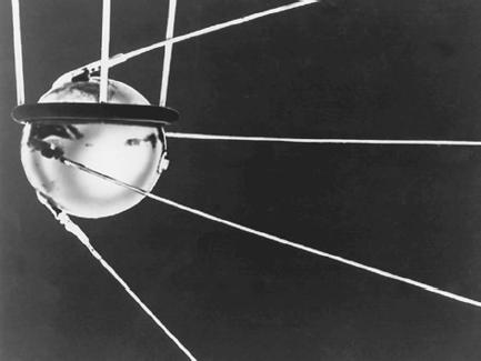 Sputnik I was the first unmanned satellite to be launched, by the Soviet Union in 1957. (Reproduced by permission of Corbis-Bettmann.)