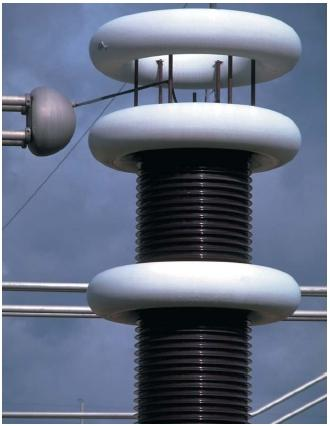 A high-voltage transformer. (Reproduced by permission of The Stock Market.)