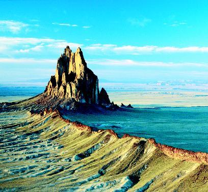 Shiprock Is An Eroded Volcano Plume Or Volcanic Neck That Stands More Than 1 900