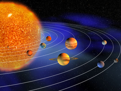 what causes the planets and moons in our solar system to orbit the sun - photo #13