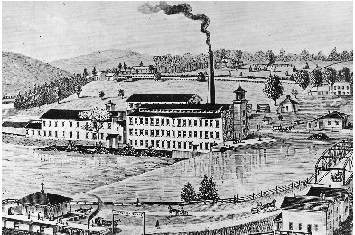 During the Industrial Revolution, coal-burning factories like the one