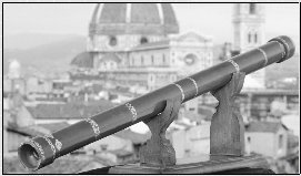 The first telescope lenses and cylinders galileo galilei looks to